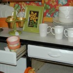 Bright and Cheery metal cupboard and kitchen accessories