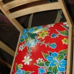 Cool chair with oilcloth seat