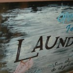 Sassy handpainted Laundry sign