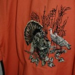 Shirt with turkey on the back