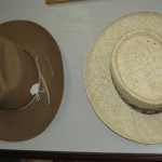 Two hats on the wall