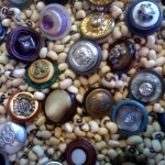 Rings made from vintage buttons