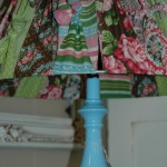 Lamp with pretty fabric shade