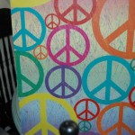 Bright and colorful peace sign canvas