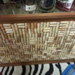 A collection of corks makes a beautiful bulletin board