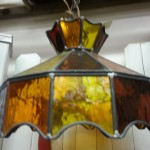 Swanky stained-glass swag lamp
