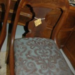 Beautiful old dining chair is part of a set