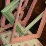 Pink and Green frames and a Parisian chair
