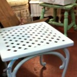 Latticework side table