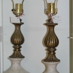Pair of elegant antique lamps